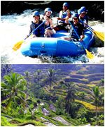 Bali Rafting and Kintamani Tanah Lot Tours