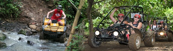 Bali ATV and Buggy Riding are the great challenge adventures to experience the pure natures of Bali passing through rice field, muddy land and small jungle
